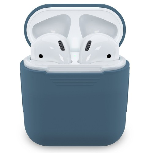 PodSkinz Protective Silicone Cover and Skin for Apple Airpods and Airpods 2 Charging Case - Cobalt Blue