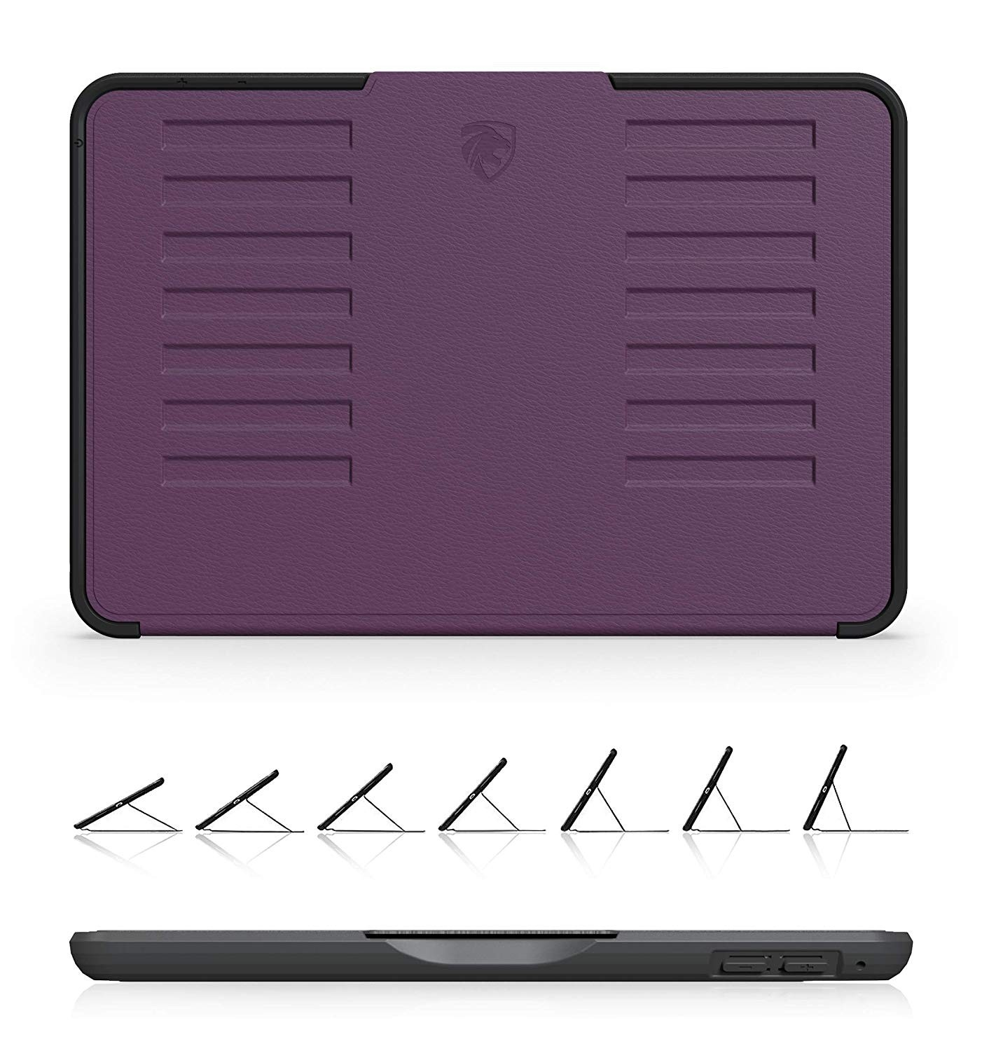 ZUGU CASE - iPad Mini 5 & 4 Muse Case - 5 Ft Drop Protection, Secure 7 Angle Magnetic Stand - Purple, ZG-M-MIN5P