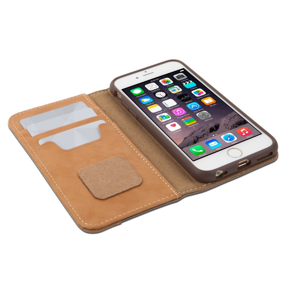 Moshi Overture Wallet Case for iPhone 6/6S - Brushed Titanium, IPH6-WALL-TI