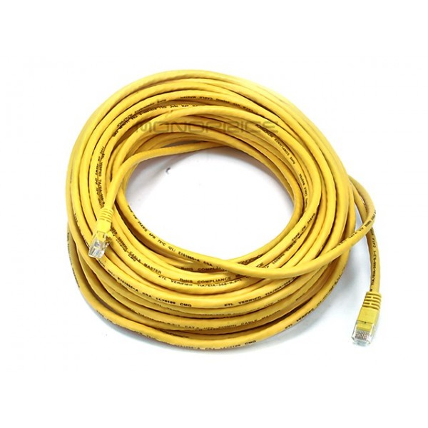 23m 24AWG Cat6 550MHz UTP Ethernet Bare Copper Network Cable - Yellow, ETH-5033