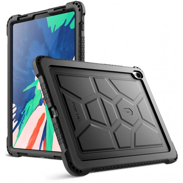Poetic TurtleSkin Series Protective Silicone Case for Apple iPad Pro 11 Inch (2018) [Not Supported Apple Pencil Magnetic Attachment] - Black, B07GD7FSWZ