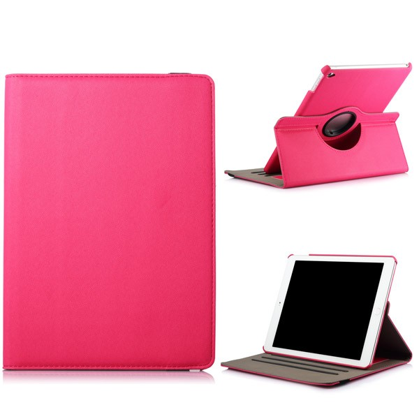 360 Rotating Folio Case with Card Slot for iPad Air 2 - Magenta, IPD6-360-66152