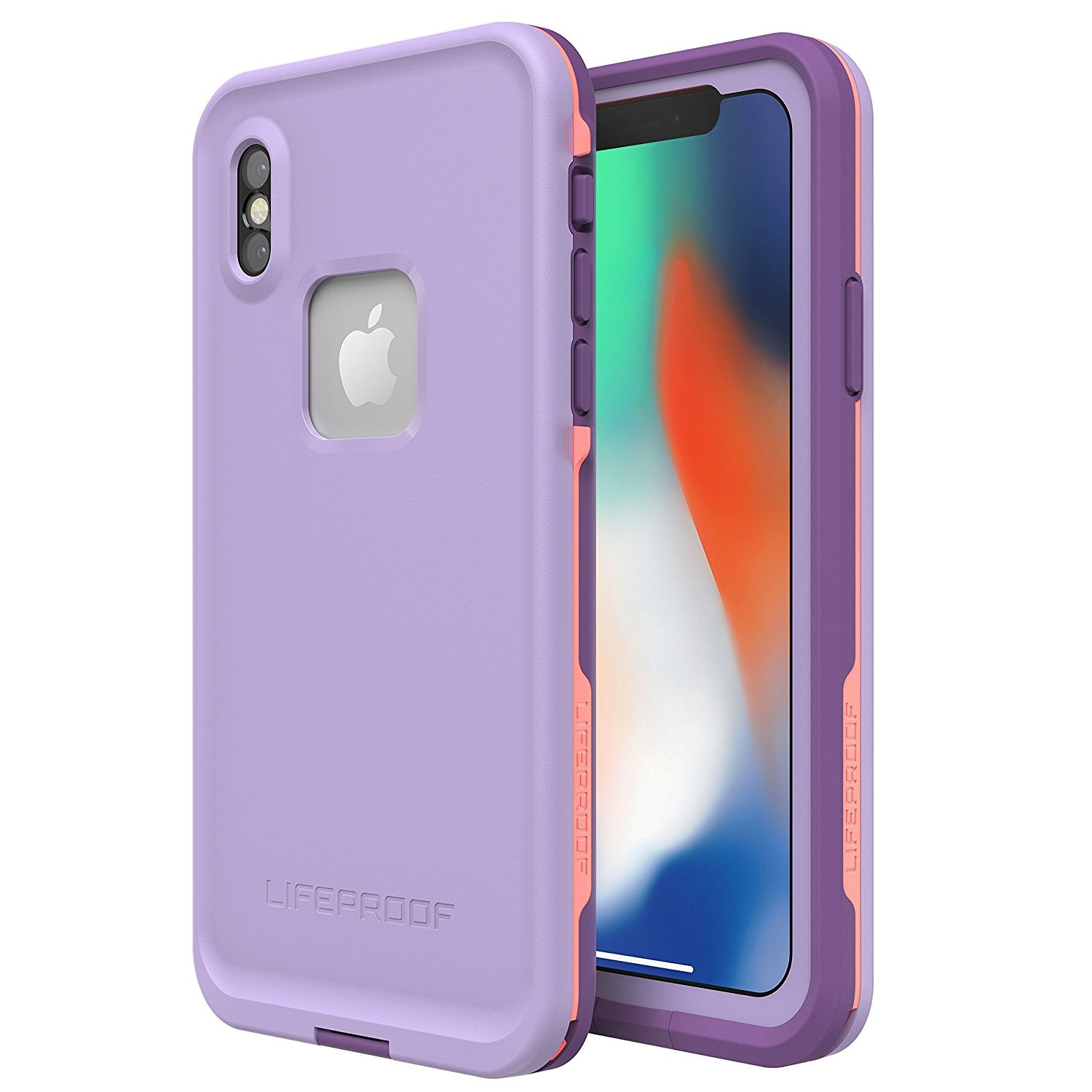 Lifeproof FRĒ SERIES Waterproof Case for iPhone X - Rose/Coral/Lilac, 77-57166