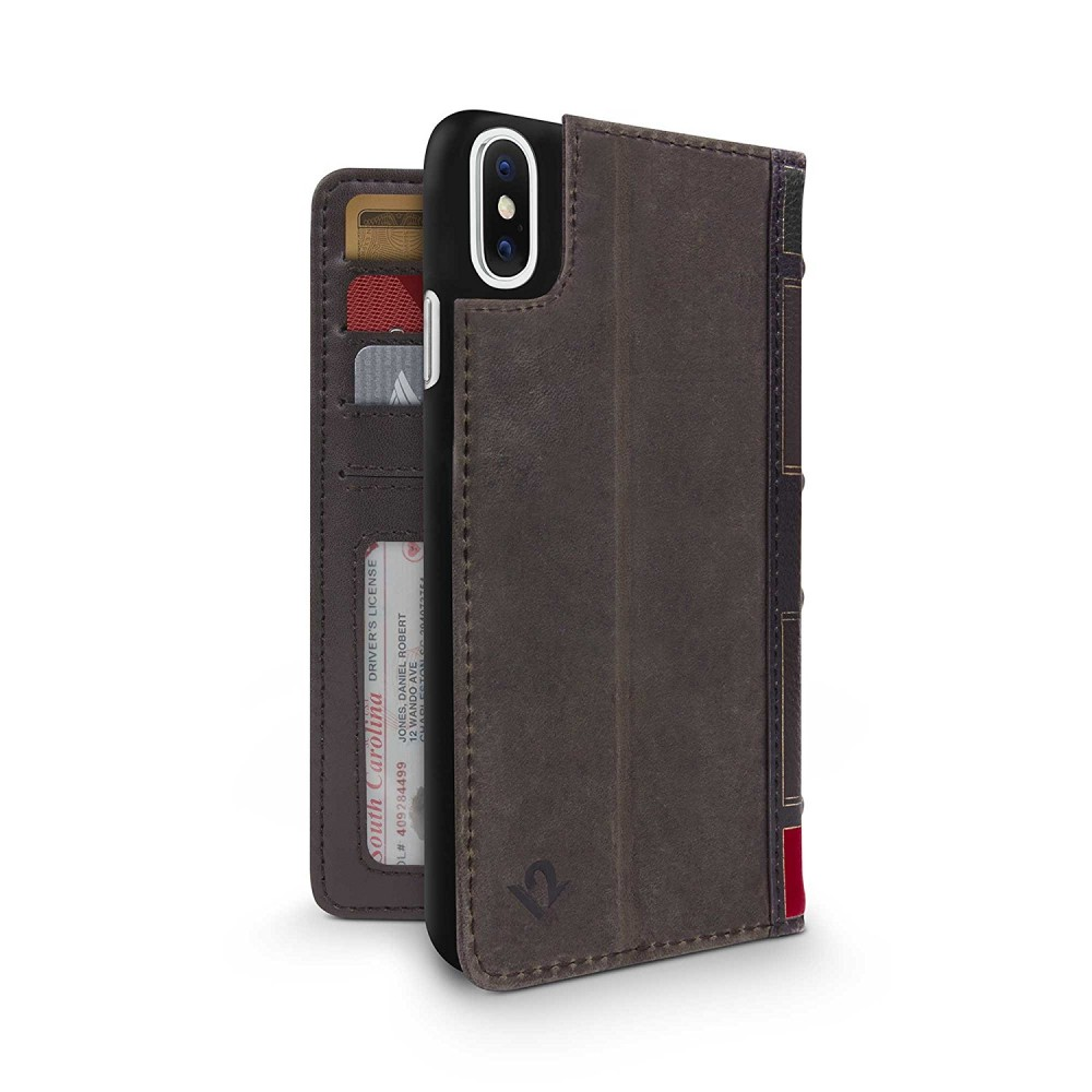 Twelve South BookBook for iPhone X/Xs - Brown, 12-1734
