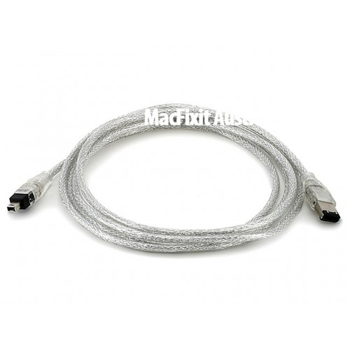 IEEE-1394 FireWire iLink DV Cable 6P-4P M/M - 80cm (CLEAR)