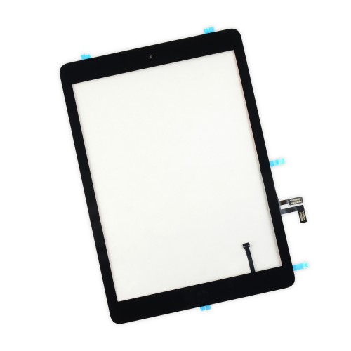 iPad Air Front Glass/Digitizer Touch Panel Full Assembly, Part Only, New - Black