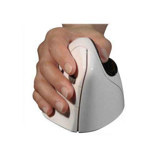 Evoluent VerticalMouse 4 Ergonomic Right-Handed Bluetooth Mouse Mac, EVVM4RB