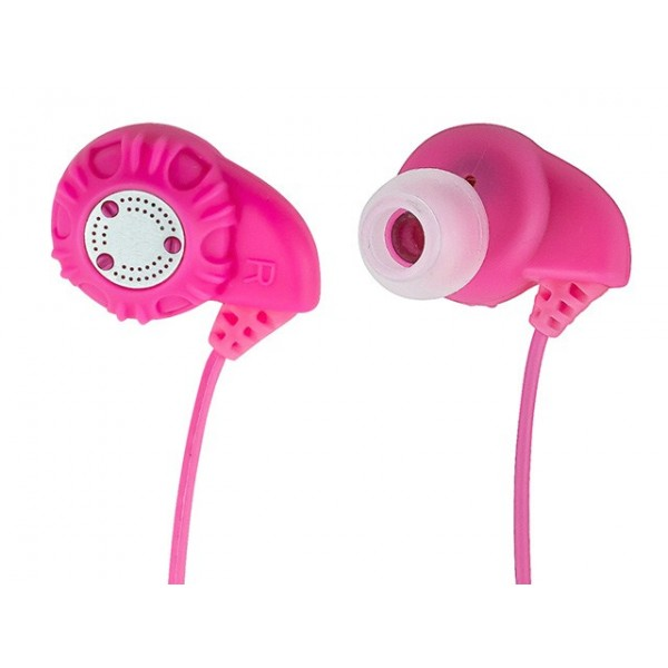 Enhanced Bass Hi-Fi Noise Isolating Earphones - Pink, EAR-9960