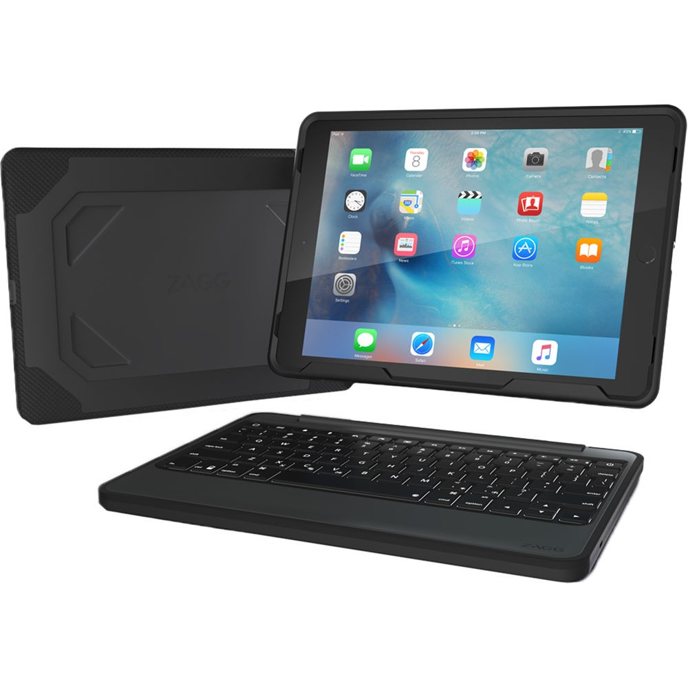 Zagg Rugged Book Keyboard And Case For 9 7 Ipad Pro Black
