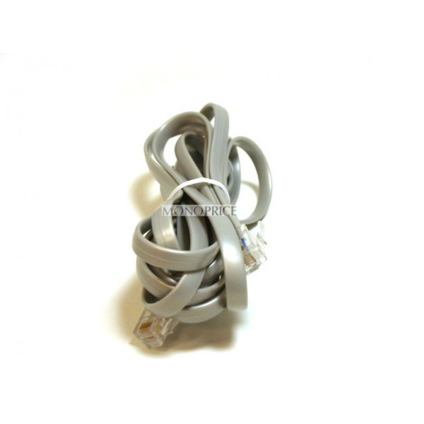 Phone cable, RJ12 (6P6C), Straight -  2.1m for Data, RJ11-938