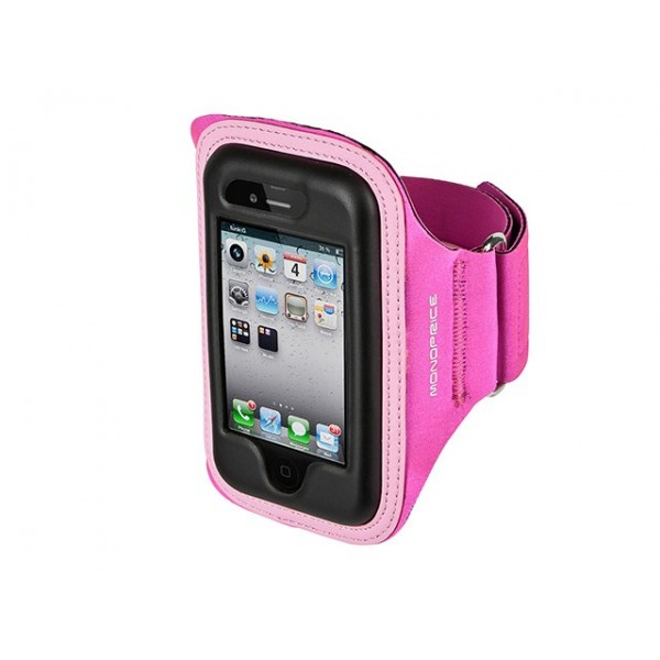Neoprene Sports Armband for iPhone 4/4s - SM/MED - Pink, ARM-P4-9594