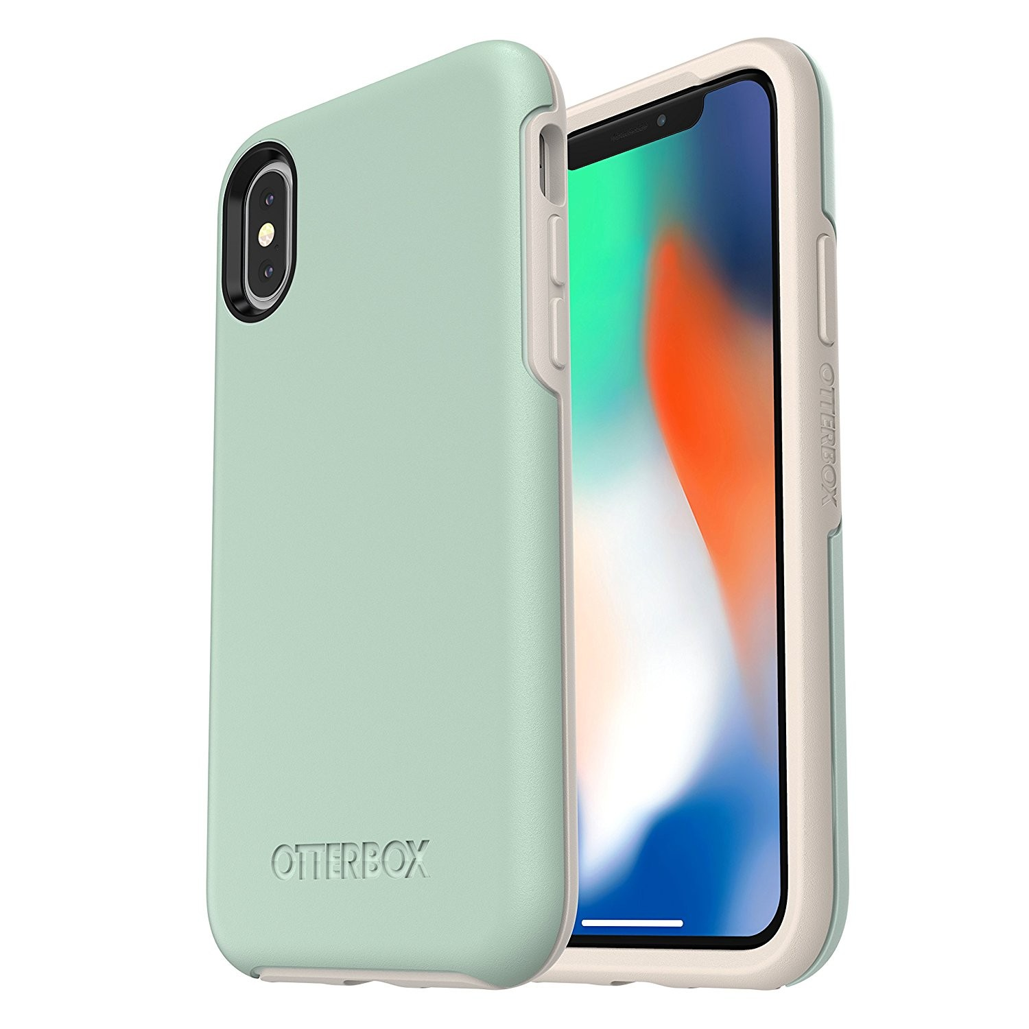 OtterBox Symmetry Series Case Suits for iPhone X - Muted Waters, 77-57084