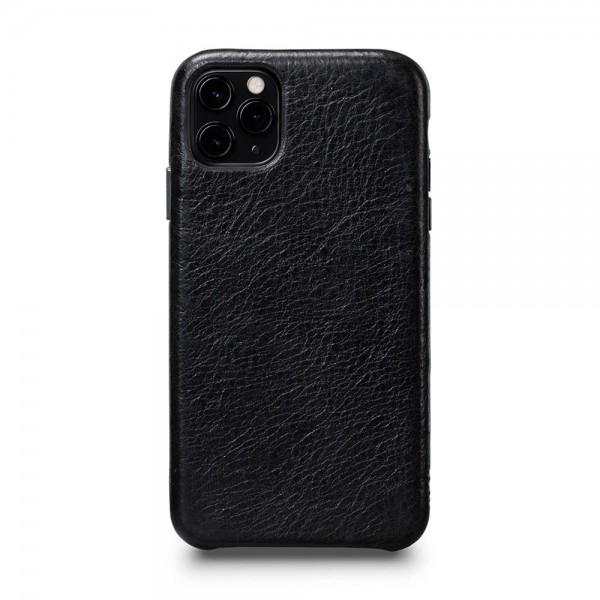 Sena LeatherSkin Leather Case for iPhone 11 Pro Max - Black, SFD447NPUS