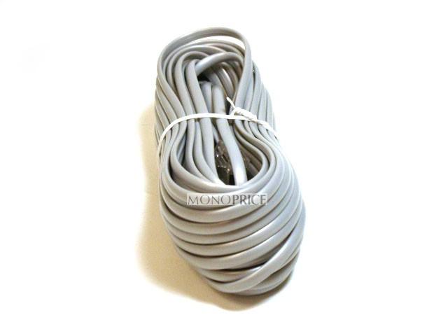 Phone Cable, RJ11 (6P4C), Straight - 50ft for data, RJ11-935