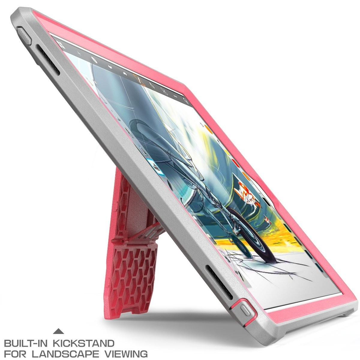 Supcase Unicorn Beetle Pro Full Body Rugged Protective Case for iPad 9.7 (2017) - Pink/Gray, B06XWS4L7K