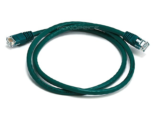 0.9m 24AWG Cat6 550MHz UTP Ethernet Bare Copper Network Cable - Green, ETH-2296