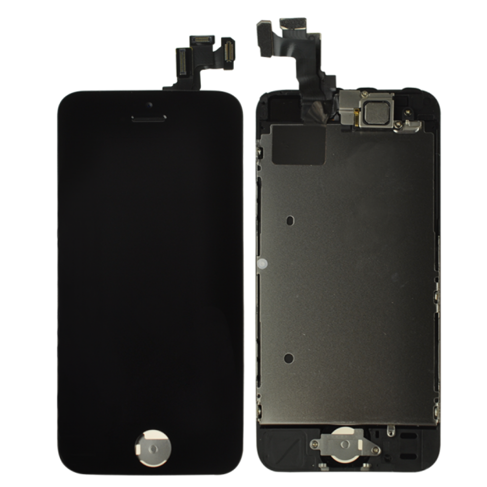 iPhone 5S LCD and Digitizer Assembly with Frame - Black, I5S-034