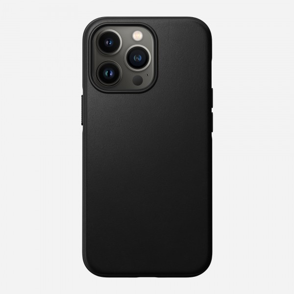 Nomad Modern Leather Case for iPhone 13 Pro - Black, NM01062585
