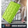 Poetic TurtleSkin Cover Case With Heavy Duty Protection Silicone and Sound-Amplification feature for iPad 9.7 Inch 2017/2018 - Green, B01N15K817