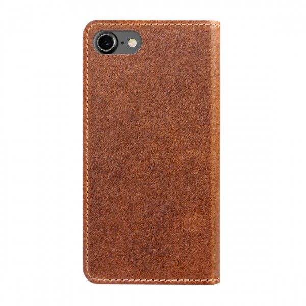 Nomad Horween Leather Folio Wallet for iPhone 7/8 - Rustic Brown, CASE-I7-FOLIO-BROWN