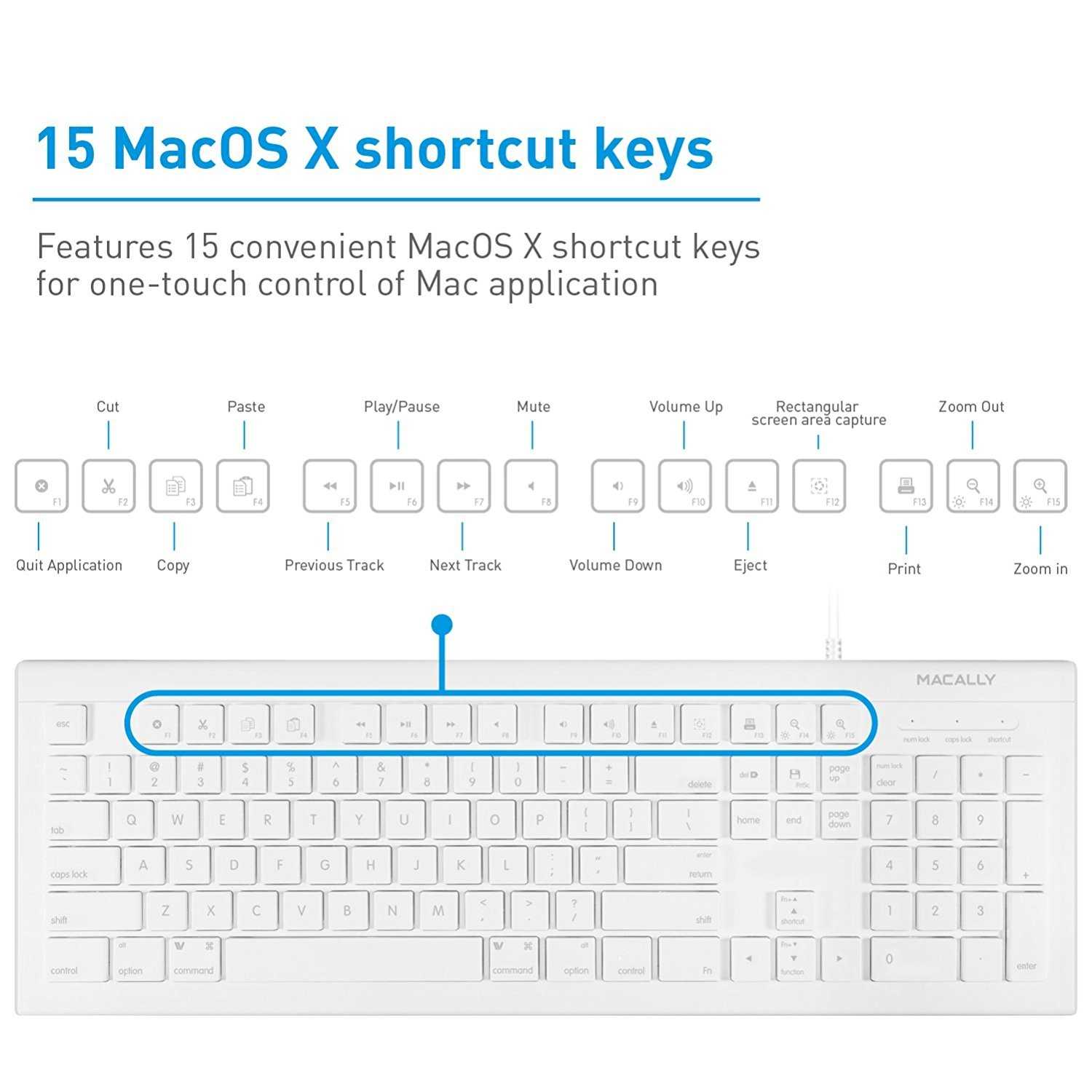 Macally 104 key full-size USB Wired Keyboard and Mouse Combo, MKEYECOMBO