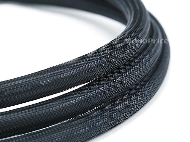Monoprice 4.5m 24AWG CL2 High Speed HDMI Cable With Ethernet w/ Net Jacket - Black - 4 metres, HDMICAB-6077