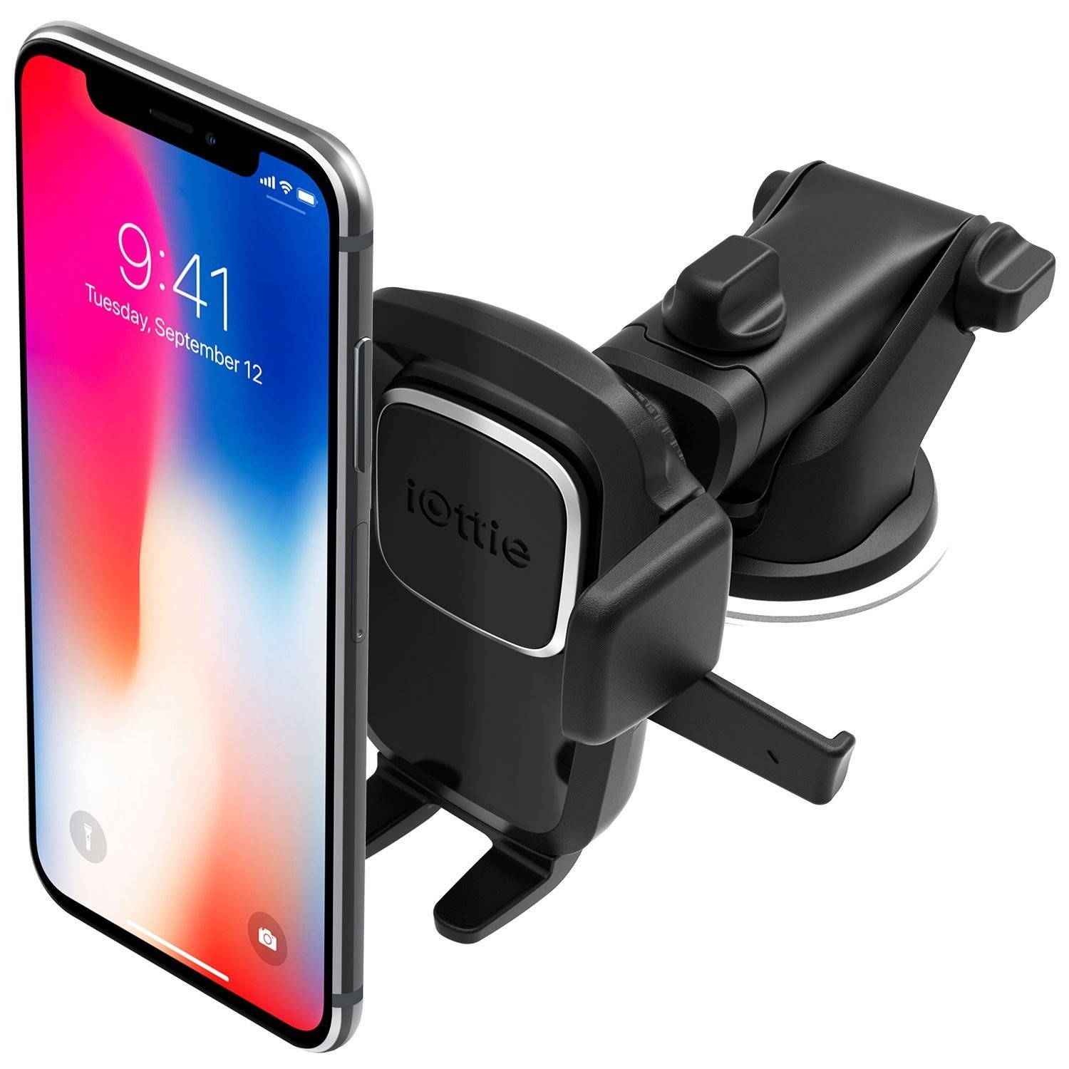 iOttie Easy One Touch 4 Car & Desk Mount Phone Holder for iPhone XS / XS Max / XR / X / 8 / 8 Plus 7 / 7 Plus 6S/ 6S Plus 6 / 6 Plus 5s 5c, Samsung Galaxy, HLCRIO125