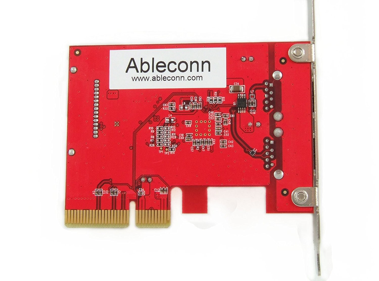 Ableconn USB 3.1 Gen 2 (10 Gbps) 2-Port Type-A PCI Express (PCIe) x4 Host Adapter Card For Mac Pro, PUSB31P2A