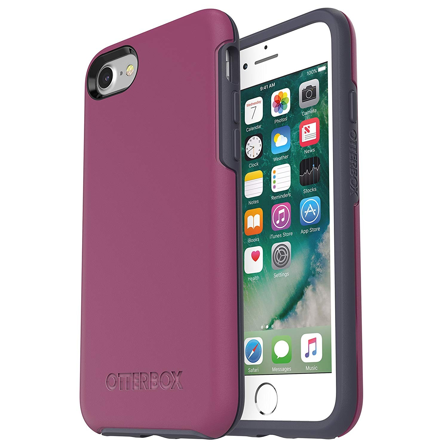 OtterBox Symmetry Clear Series Case for iPhone 8 & iPhone 7 - Mix Berry Jam, 77-56671