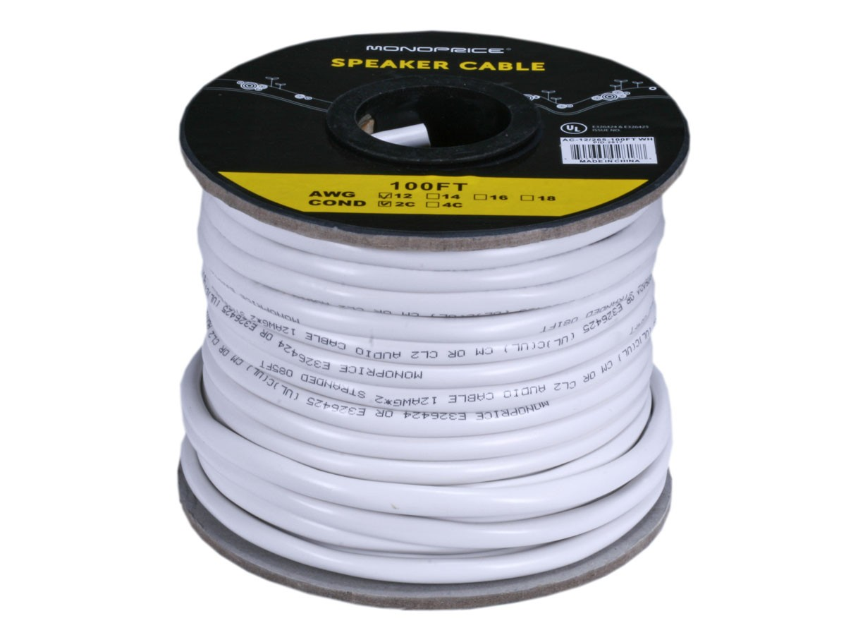 Access Series 12AWG CL2 Rated 2-Conductor Speaker Wire - 30m, 2817
