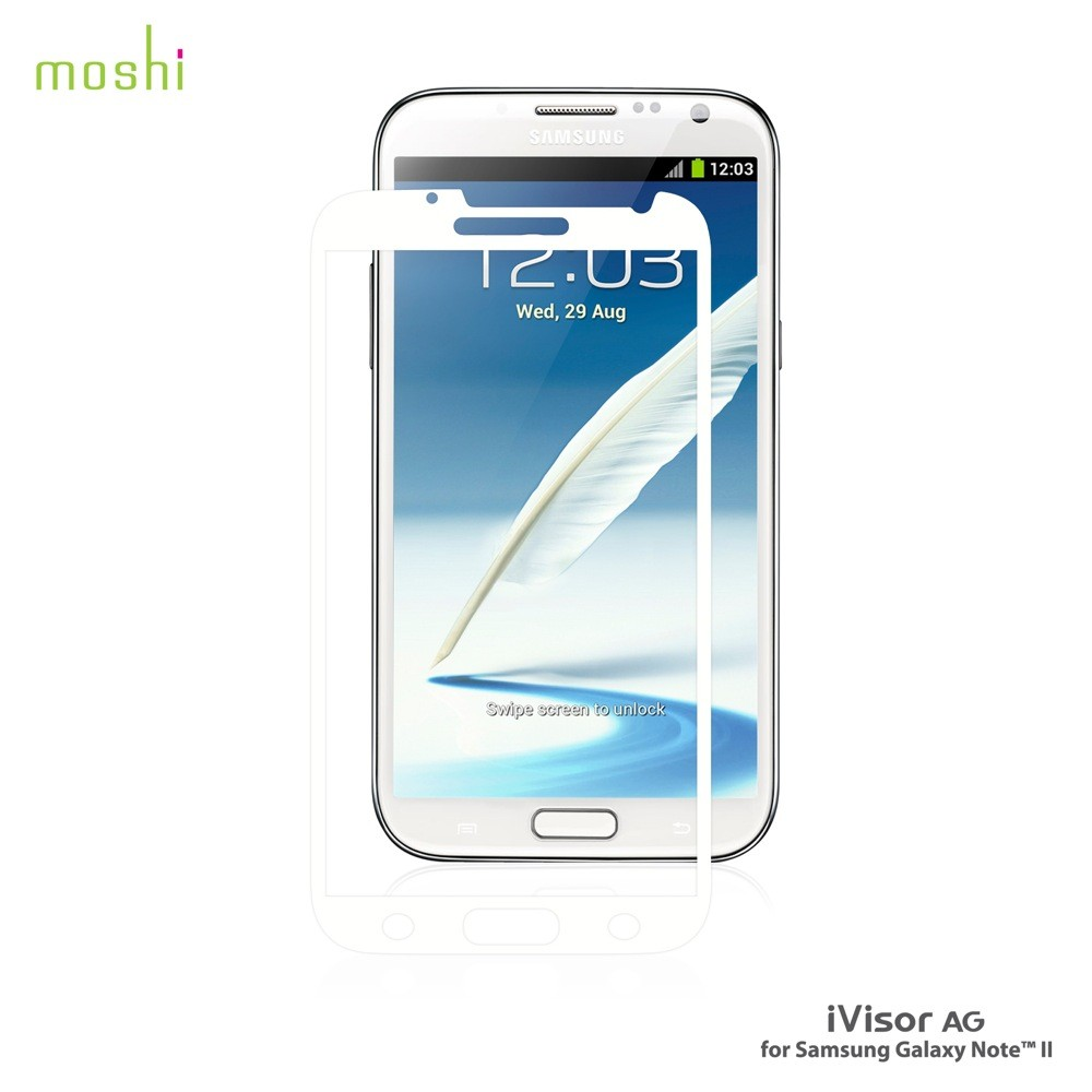 Moshi iVisor AG for Galaxy Note II - White, M-IVAG-GXN2-WH
