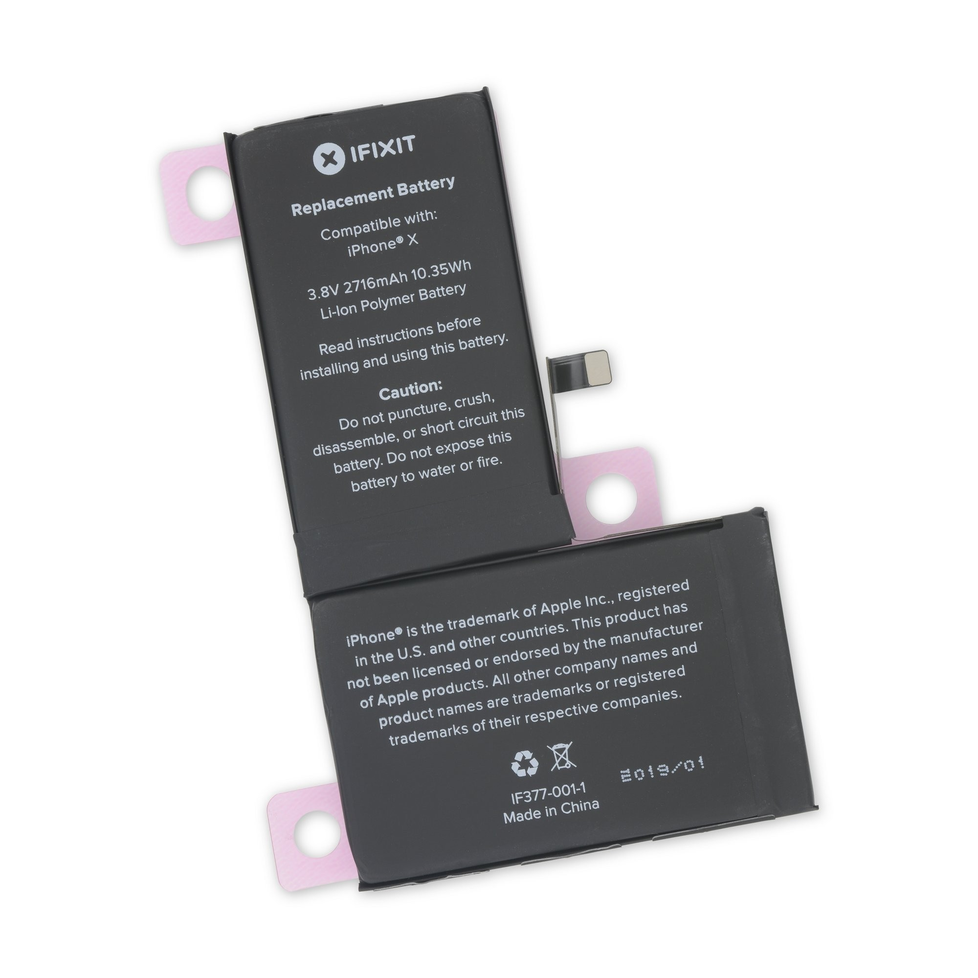 iFixit iPhone X Replacement Battery, Fix Kit - New, IF377-001-2
