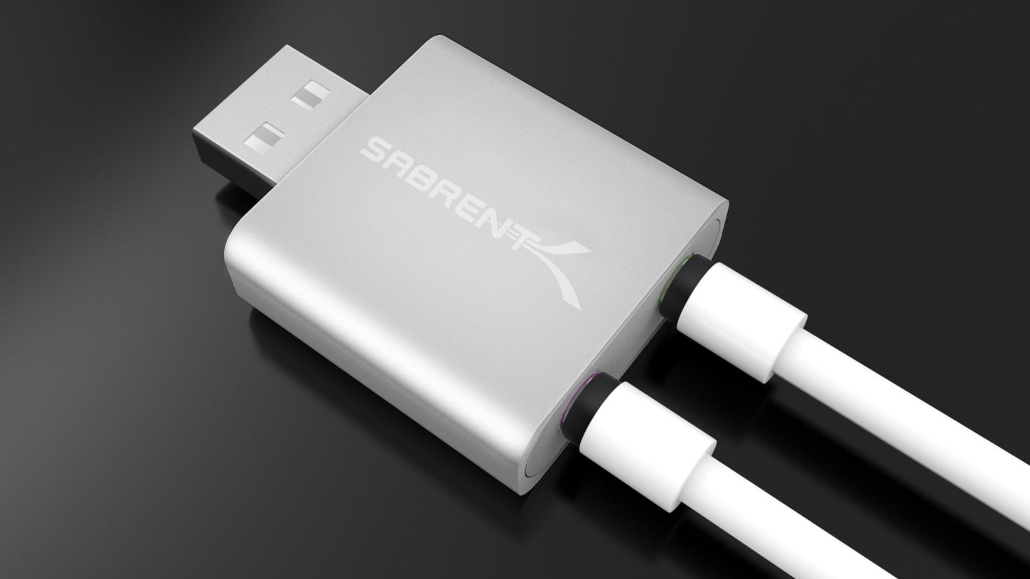 Sabrent Aluminum USB External Stereo Sound Adapter iMic and Recorder for Windows and Mac - Plug and Play - Replaces Griffin iMic, AU-EMAC