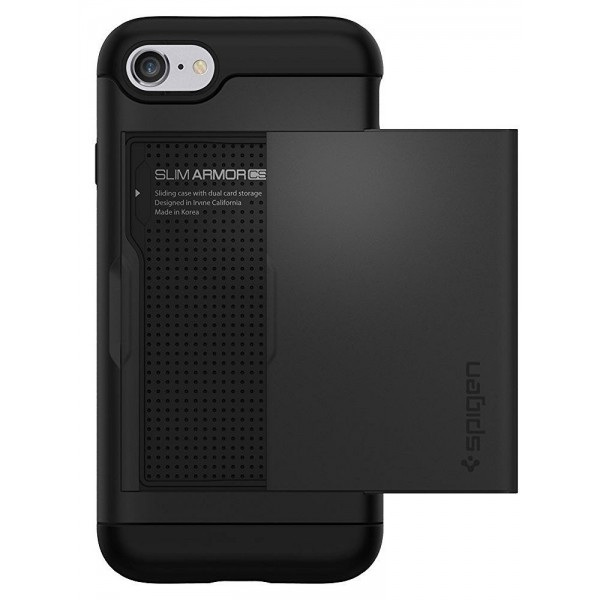 Spigen Slim Armor CS Case for iPhone 8 / 7 / SE 2020  - Black, 042CS20455