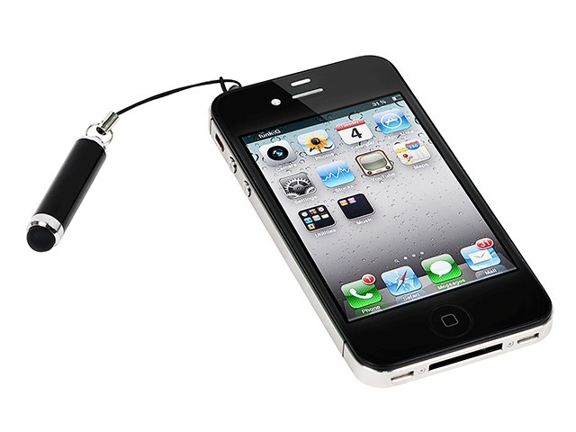 """1.75"""" Aluminum Stylus for all iPad iPhone, iPod, Tablets, and SmartPhones - Black, STYLUS-8840"""