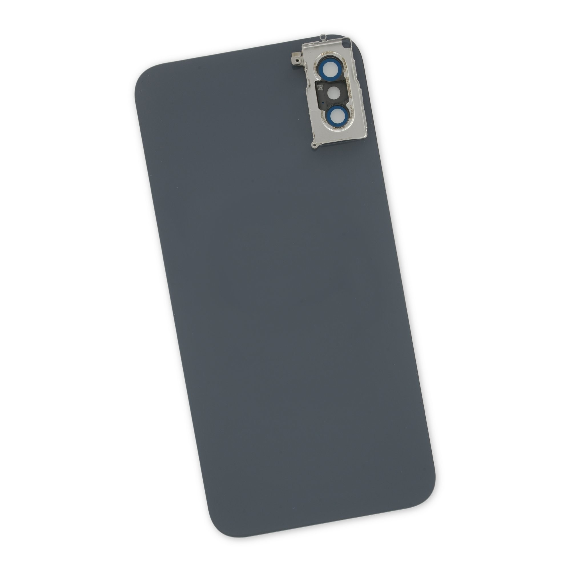 iPhone XS Aftermarket Blank Rear Glass Panel with Lens Cover - Black, IF406-016-1