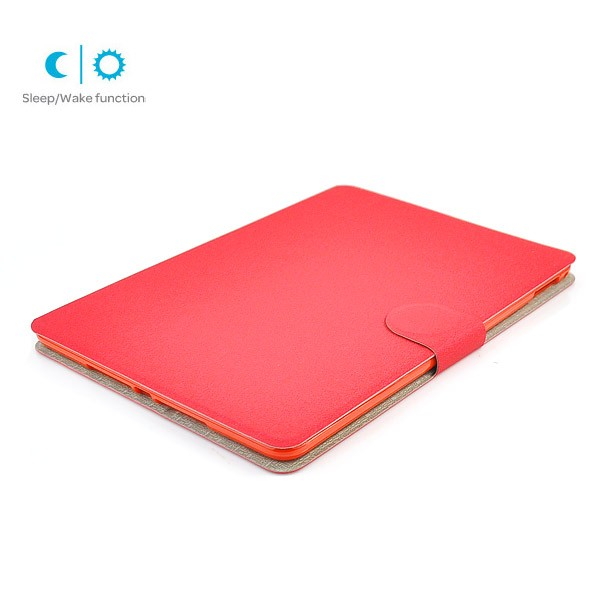 Flip Stand Cover Case with Card Slot for iPad Air 2 - Red, IPD6-FLIP-66355