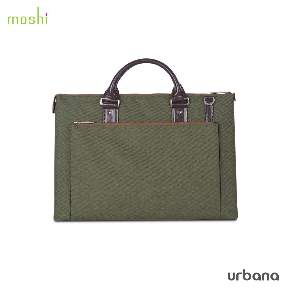 """Moshi Urbana Briefcase for 13""""- 15"""" laptops + iPad compartment -  Forest Green, DIS-URBANA-GN"""