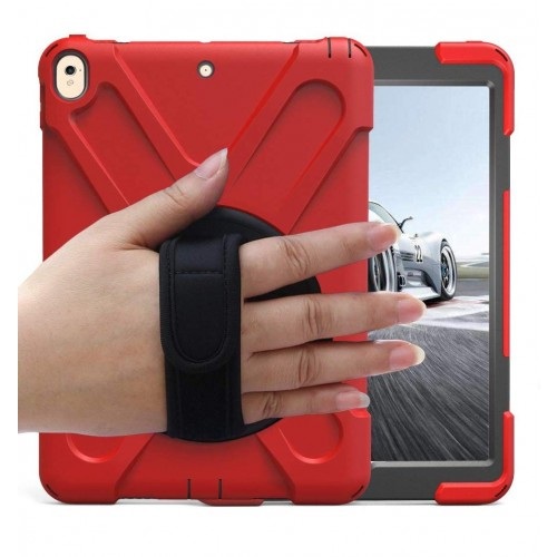 BRAECN Case with 360 Degree Swivel Stand/Hand Strap and Shoulder Strap Case for  iPad Pro 10.5 - Red
