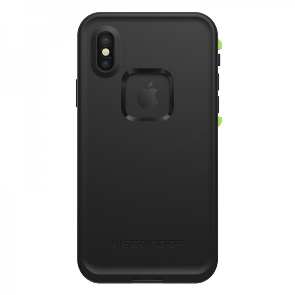 Lifeproof FRĒ Series Waterproof Case for iPhone X - Black/Lime, 77-57163