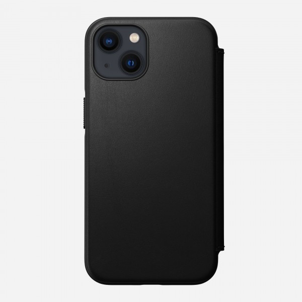 Nomad Modern Leather Folio Case For iPhone 13 - Black, NM01077985