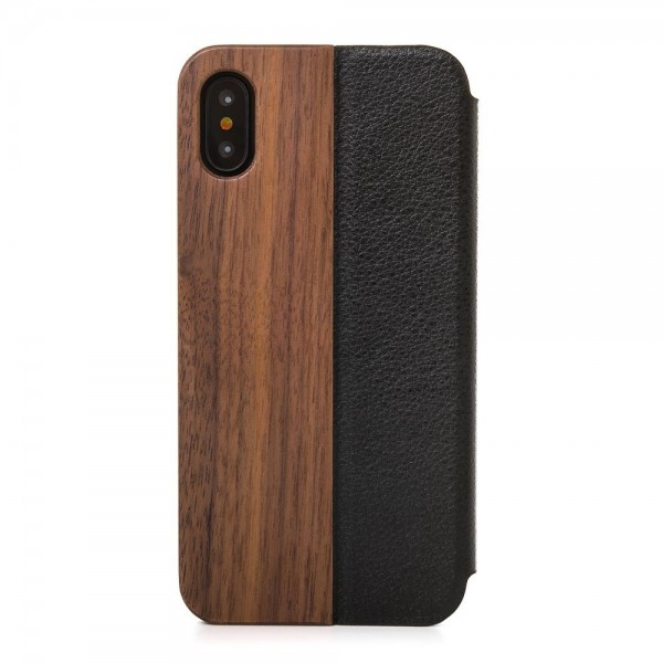 Woodcessories EcoFlip Casefor iPhone X/XS - Walnut, eco207
