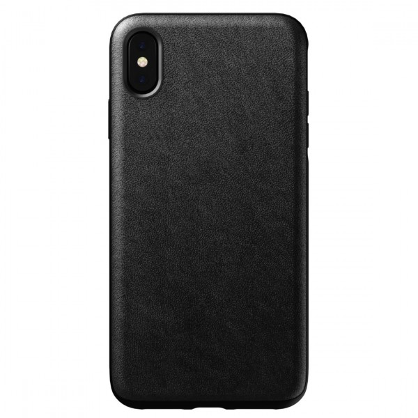 Nomad Horween Leather Rugged Case for iPhone XS Max - Black, NM21T10R00