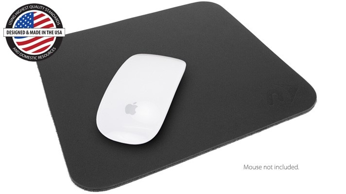"""Newer Technology NuPad Leather 8.25"""" x 9"""" mouse pad."""