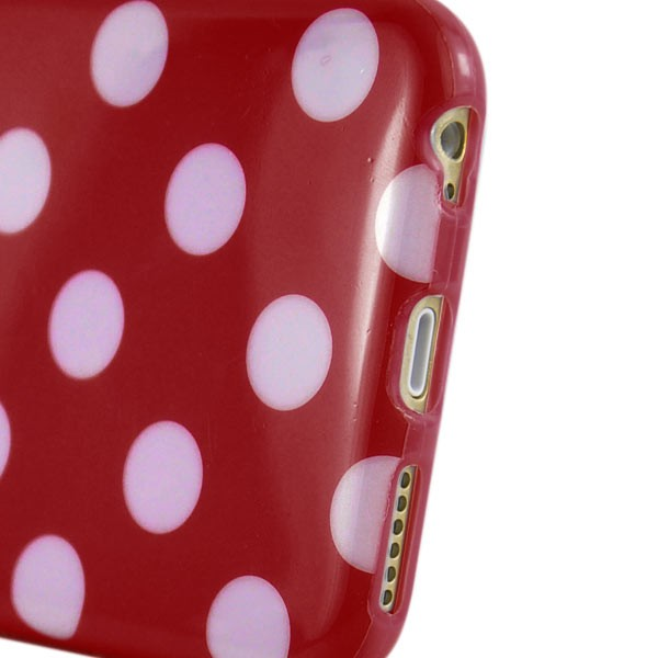 """Dot Pattern Case for iPhone 6 4.7"""" - Red, DOT-IPH6-64643"""