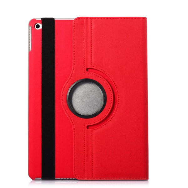 360 Rotating Folio Case with Card Slot for iPad Air 2 - Red, IPD6-360-66145