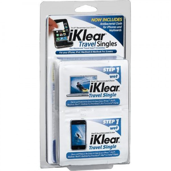 iKlear Travel Singles Kit - Cleaning Solution for Macbook and Macbook Pro, DIS-IKIKTS20