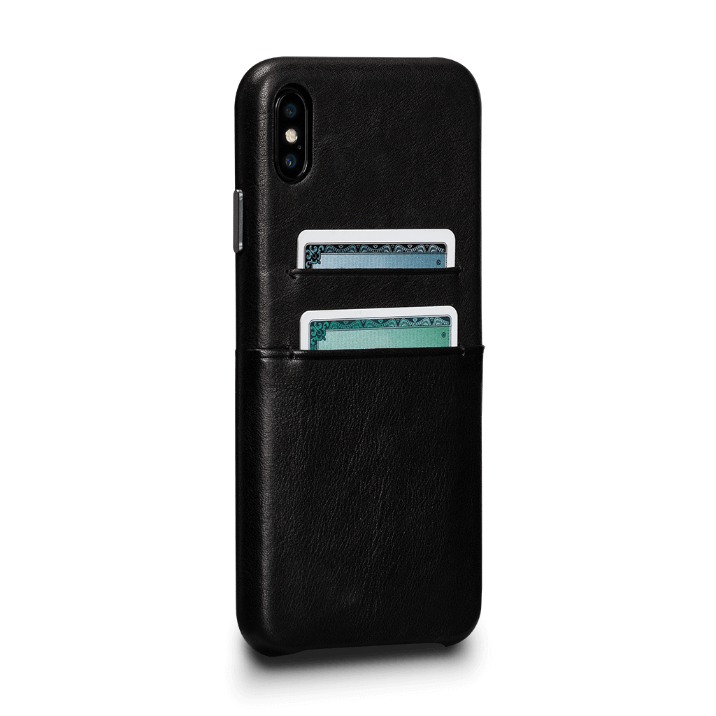 Sena Deen Snap-on Leather Wallet case for iPhone XS Max - Black, SFD378NPUS
