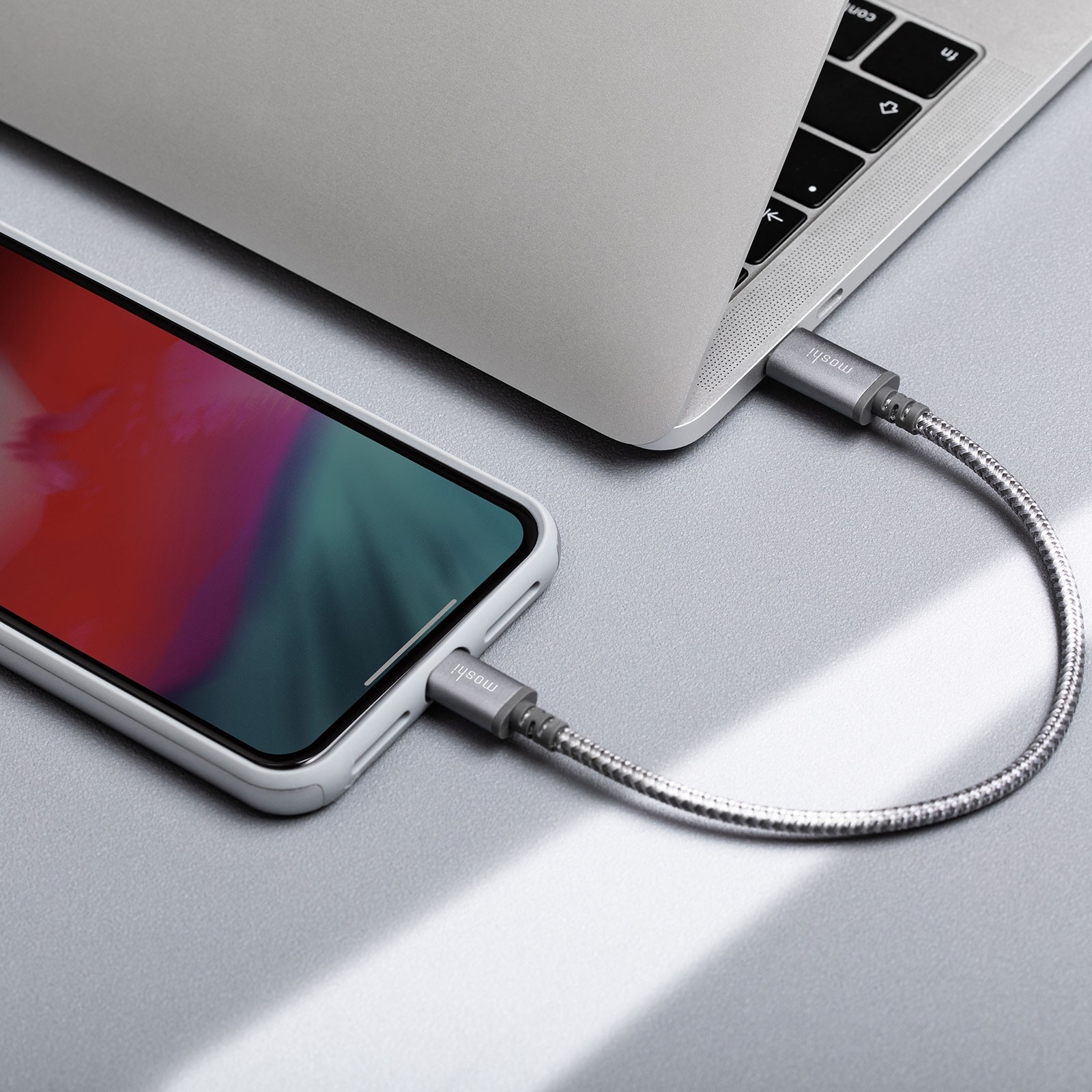 Moshi Integra USB-C Charge/Sync Cable with Lightning Connector (1.2 m) - Grey, 99MO084041