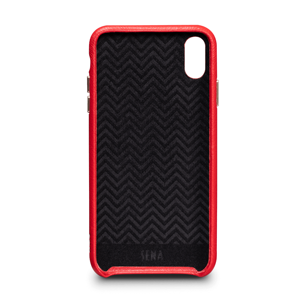 Sena Kyla LeatherSkin case for iPhone XS Max - Red, SFD38103NPUS
